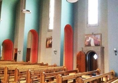 HAGA Kirche Wünnewil Schweiz, Wandgestaltung, Biofarben, Bioputze