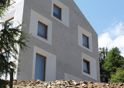 HAGA Lehmputz, Lehmfarbe, Bioputz, Biolehm, Pensiun Laresch, Fassade